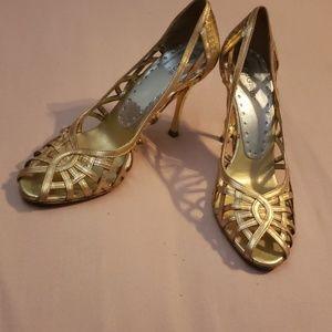 BCBC gold heels